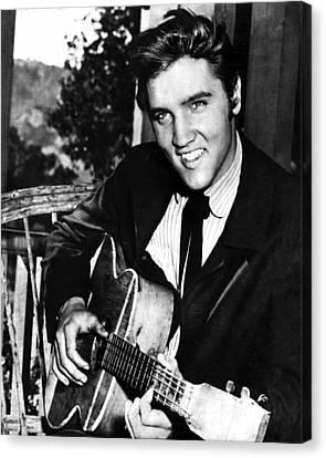 Elvis Presley Smiles  Canvas Print by Retro Images Archive