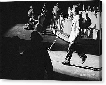Elvis Presley With An Orchestra 1956 Canvas Print by The Phillip Harrington Collection