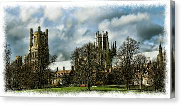 Ely Cathedral In Watercolors Canvas Print by Joanna Madloch