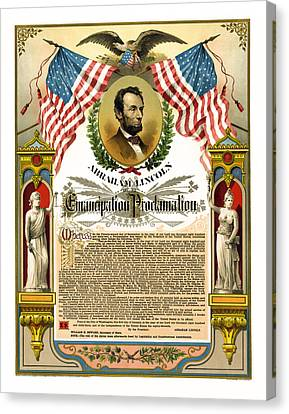 Emancipation Proclamation Tribute 1888 Canvas Print by Daniel Hagerman