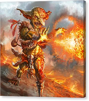 Embermage Goblin Canvas Print by Ryan Barger