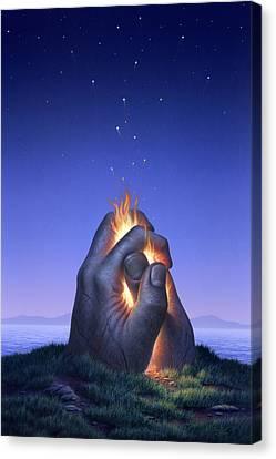 Embers Turn To Stars Canvas Print by Jerry LoFaro
