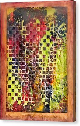 Embossed Blocks Encaustic Canvas Print by Bellesouth Studio