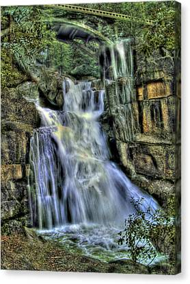Emerald Cascade Canvas Print by Bill Gallagher