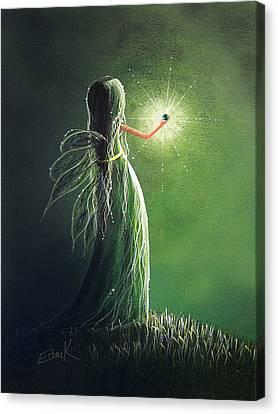 Emerald Fairy By Shawna Erback Canvas Print by Shawna Erback