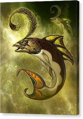 Emerald Fish Canvas Print by Jeff Haynie
