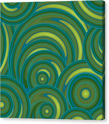 Emerald Green Abstract Canvas Print by Frank Tschakert