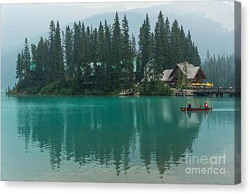 Emerald Lake Canvas Print by Carrie Cole