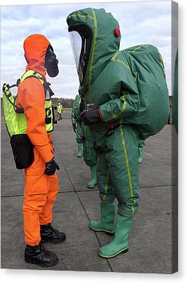 Emergency Response Protection Suits Canvas Print by Public Health England