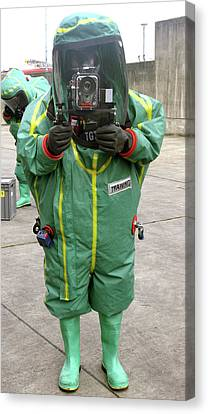 Emergency Response Training Photography Canvas Print by Public Health England
