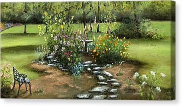 Emily's Garden Canvas Print by Cecilia Brendel