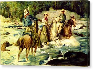 Emilys Horse Wrangler Canvas Print by Thomas Fogarty
