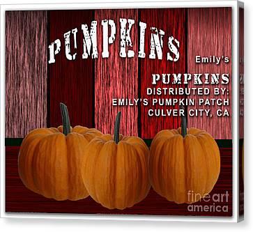 Emilys Pumpkin Patch Canvas Print by Marvin Blaine