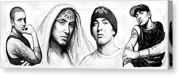 Eminem Art Drawing Sketch Poster Canvas Print by Kim Wang