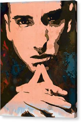 Eminem - Stylised Pop Art Poster Canvas Print by Kim Wang