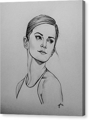 Emma Watson Canvas Print by Jeszy Arnold