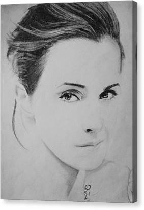 Emma Watson Minimalist Canvas Print by Jaedin Always