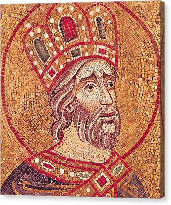 Emperor Constantine I Canvas Print by Byzantine School
