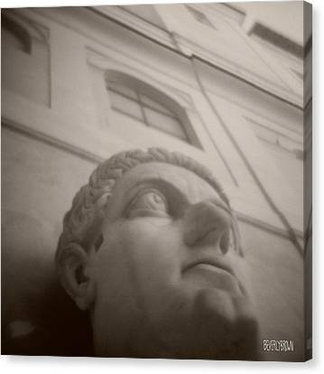 Emperor Constantine Statue Canvas Print by Beverly Brown