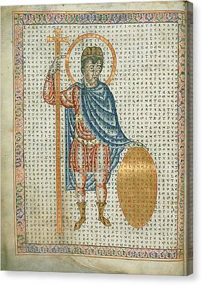 Emperor Louis The Pious Canvas Print by British Library