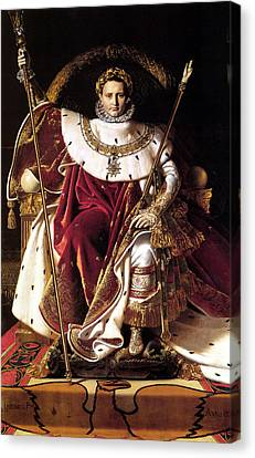 Emperor Napoleon I On His Imperial Throne Canvas Print by War Is Hell Store