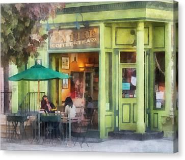 Hoboken Nj - Empire Coffee And Tea Canvas Print by Susan Savad