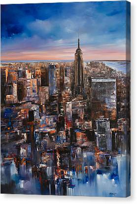 Empire Rising Tall Canvas Print by Manit