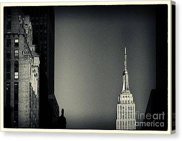 Empire State Building 2 New York City Canvas Print by Sabine Jacobs