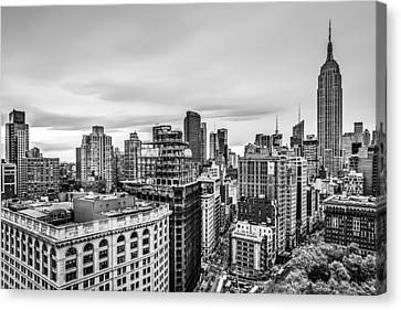 Empire State Building And Flatiron District Canvas Print by Susan Candelario
