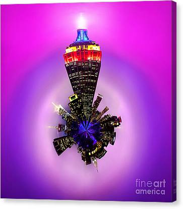 Empire State Building Circagraph Canvas Print by Az Jackson