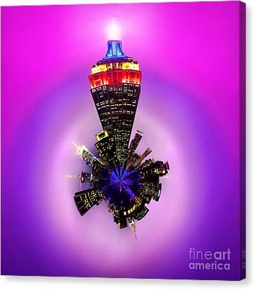 Empire State Building Circagraph Canvas Print by Az Jackson