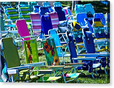 Empty Chairs Canvas Print by Garry Gay