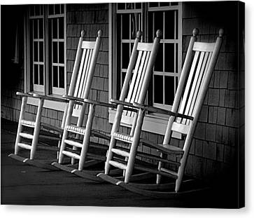 .empty Chairs. Canvas Print by Lynn E Harvey