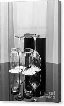 Empty Glasses Canvas Print by Svetlana Sewell