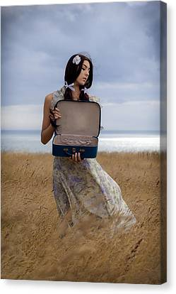 Empty Suitcase Canvas Print by Joana Kruse