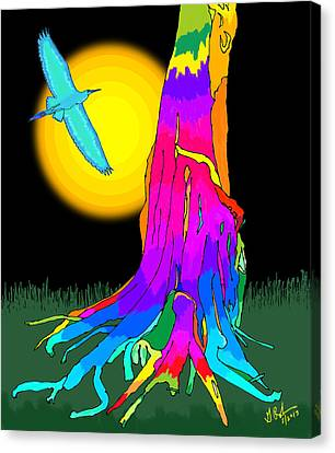 Enchanted Dream Tree Canvas Print by Gerry Robins