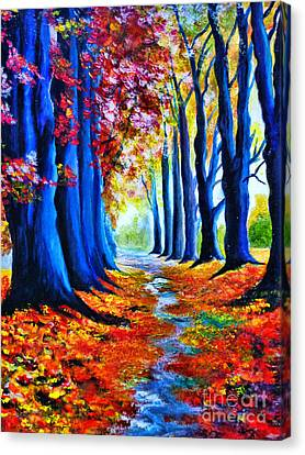 Enchanted Forest Canvas Print by Ryszard Sleczka