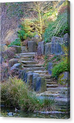 Enchanted Stairway Canvas Print by Athena Mckinzie