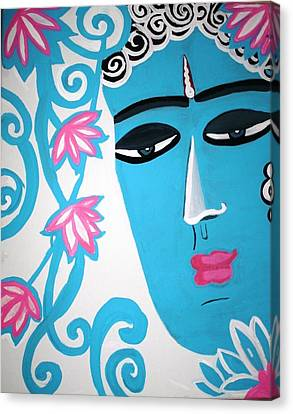 Enchanting Buddha  Canvas Print by Madhuri Krishna
