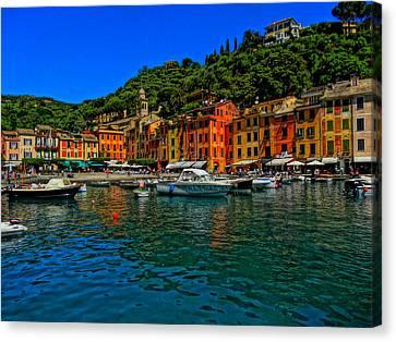 Enchanting Portofino In Ligure Italy I Canvas Print by M Bleichner