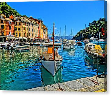 Enchanting Portofino In Ligure Italy Iv Canvas Print by M Bleichner