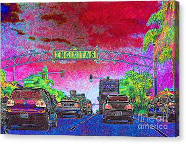 Encinitas California 5d24221 Canvas Print by Wingsdomain Art and Photography