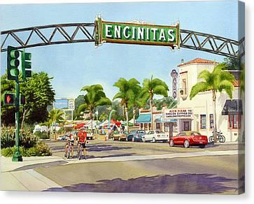 Encinitas California Canvas Print by Mary Helmreich