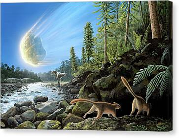 End Of Cretaceous Kt Event Canvas Print by Richard Bizley