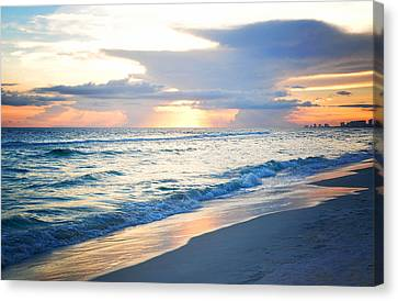 End Of The Day Canvas Print by April Moran