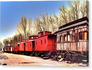 End Of The Line Canvas Print by Chas Burnam