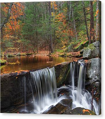 Enders Falls Square Canvas Print by Bill Wakeley