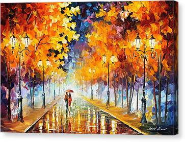 Endless Love Canvas Print by Leonid Afremov