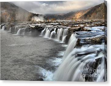 Endless Streams Over Sandstone Falls Canvas Print by Adam Jewell