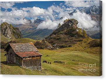 Engadine - Heaven On Earth Canvas Print by Ning Mosberger-Tang